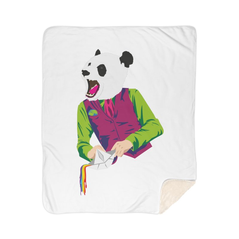 Panda Dandy Home Sherpa Blanket Blanket by Designs by sakubik
