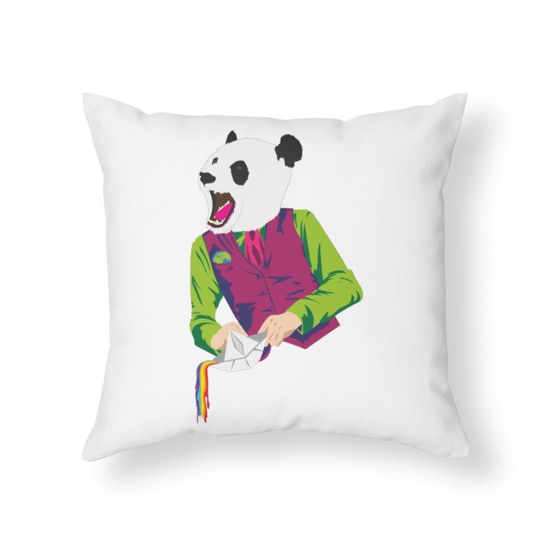 Panda Dandy Home Throw Pillow by Designs by sakubik