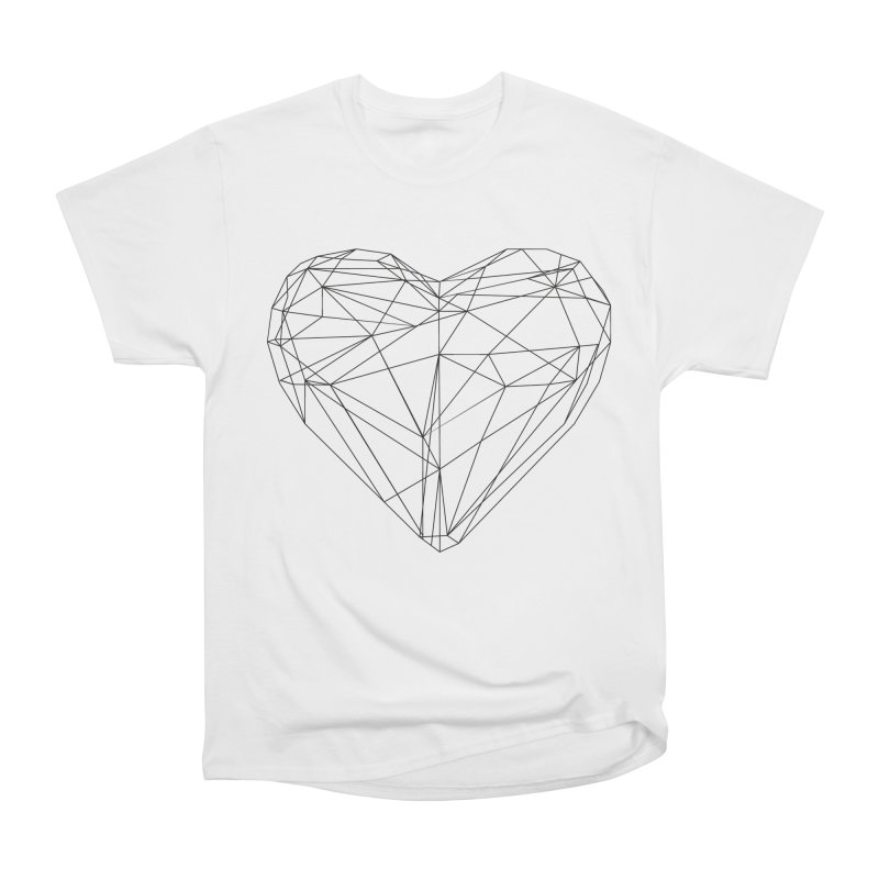 Poly Heart Women's Heavyweight Unisex T-Shirt by Designs by sakubik