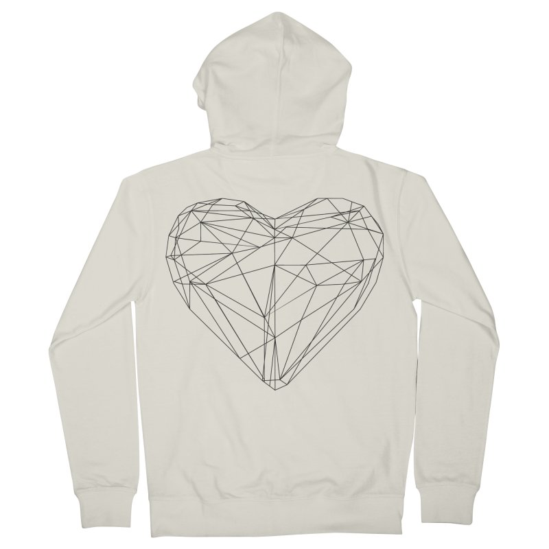 Poly Heart Women's French Terry Zip-Up Hoody by Designs by sakubik