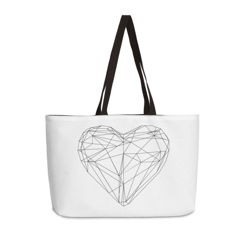 Poly Heart Accessories Weekender Bag Bag by Designs by sakubik