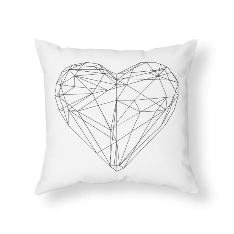 Poly Heart Home Throw Pillow by Designs by sakubik