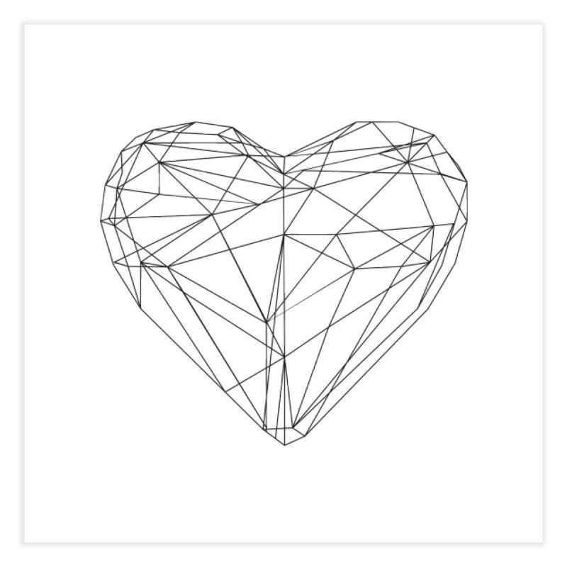 Poly Heart Home Fine Art Print by Designs by sakubik