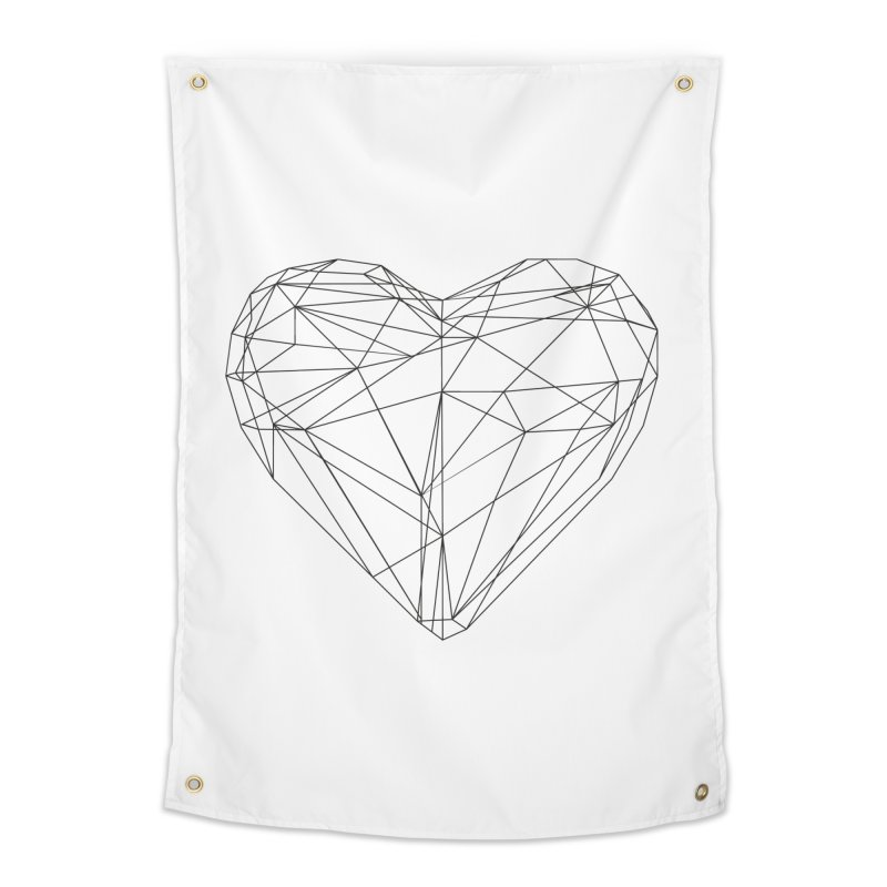 Poly Heart Home Tapestry by Designs by sakubik