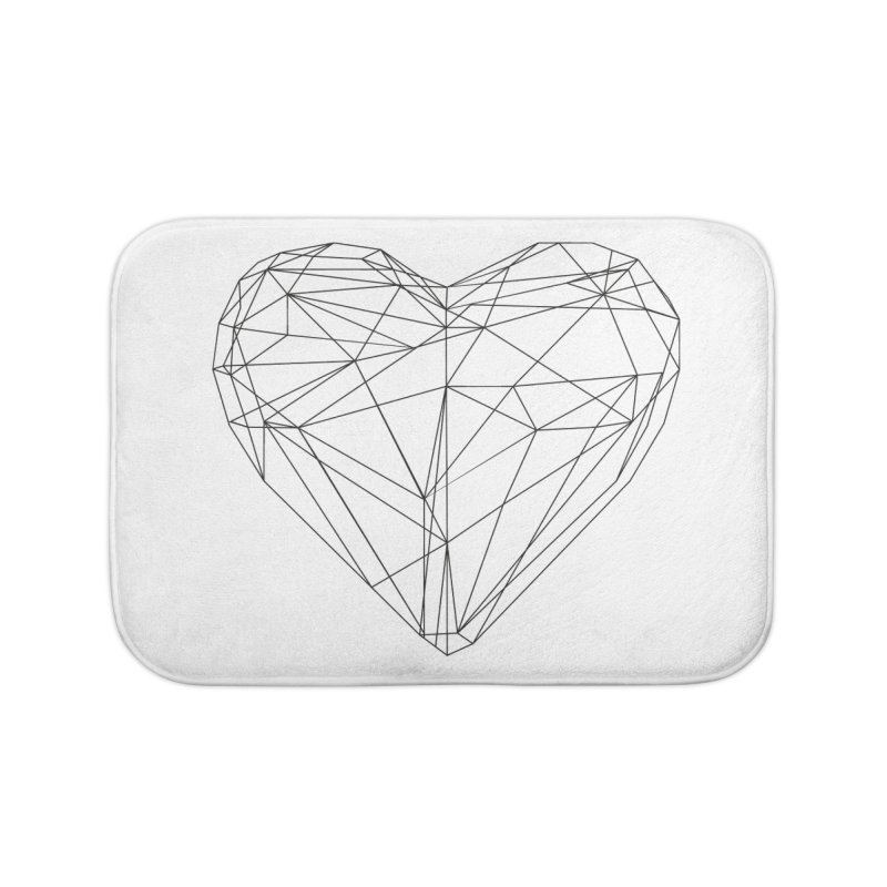 Poly Heart Home Bath Mat by Designs by sakubik