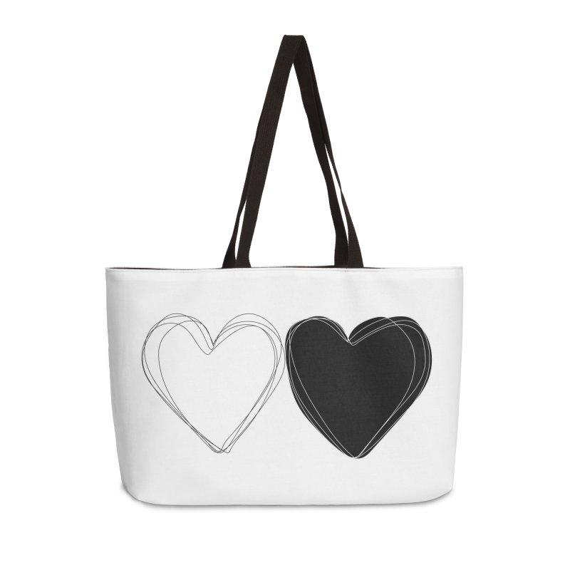Hearts Accessories Weekender Bag Bag by Designs by sakubik