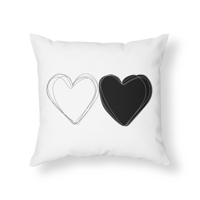 Hearts Home Throw Pillow by Designs by sakubik