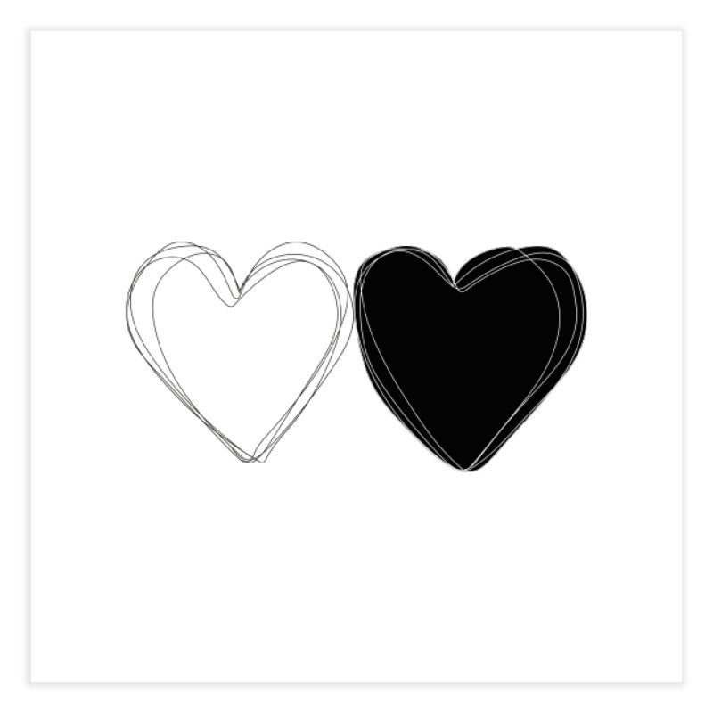 Hearts Home Fine Art Print by Designs by sakubik