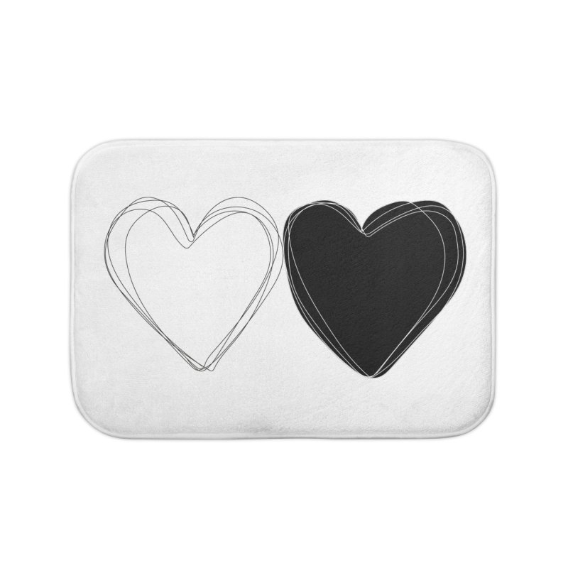 Hearts Home Bath Mat by Designs by sakubik