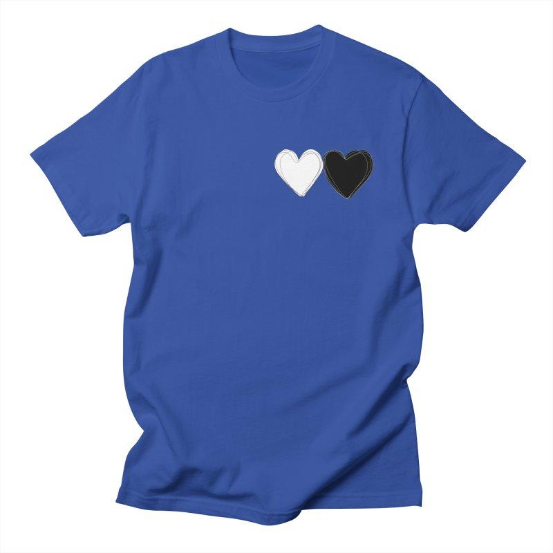 Hearts Men's Regular T-Shirt by Designs by sakubik