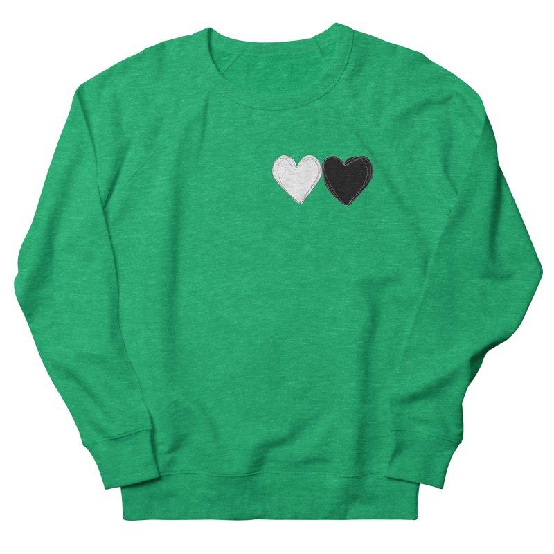 Hearts Men's French Terry Sweatshirt by Designs by sakubik