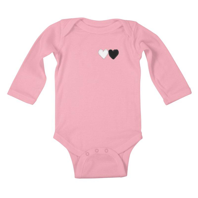 Hearts Kids Baby Longsleeve Bodysuit by Designs by sakubik