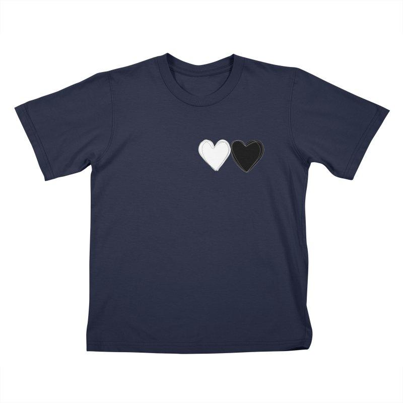 Hearts Kids T-Shirt by Designs by sakubik