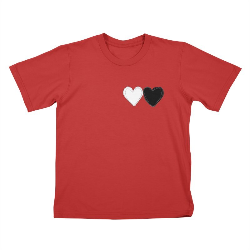 Hearts Kids T-Shirt by Designs by sakubik