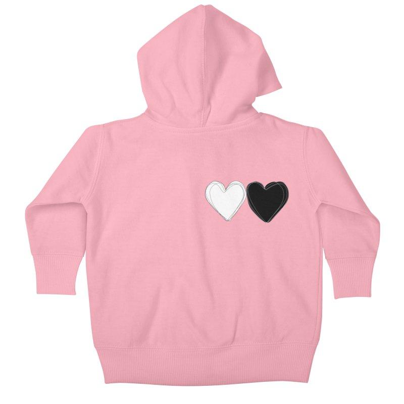 Hearts Kids Baby Zip-Up Hoody by Designs by sakubik