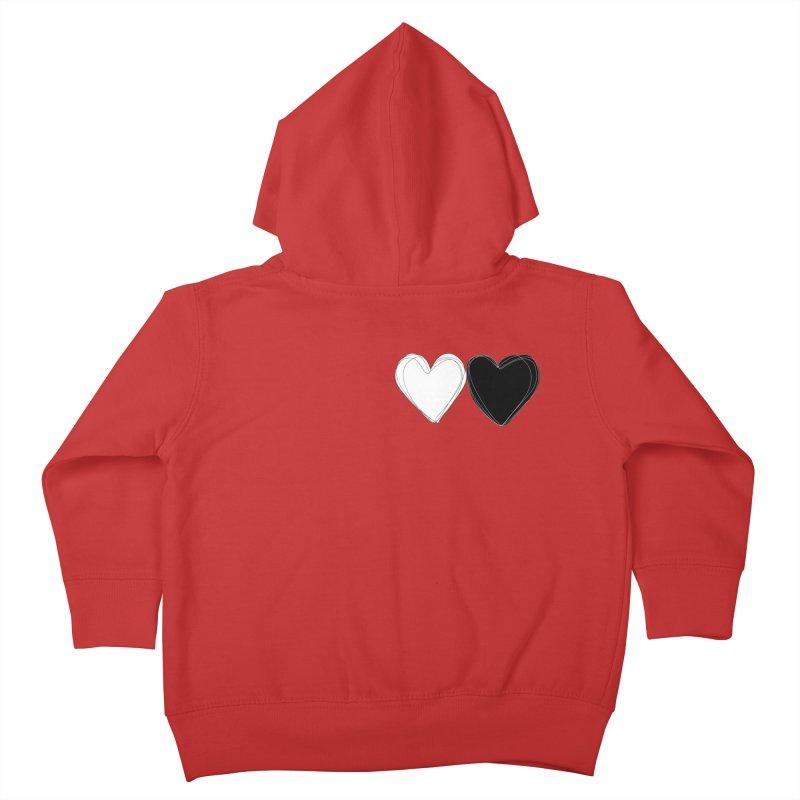 Hearts Kids Toddler Zip-Up Hoody by Designs by sakubik