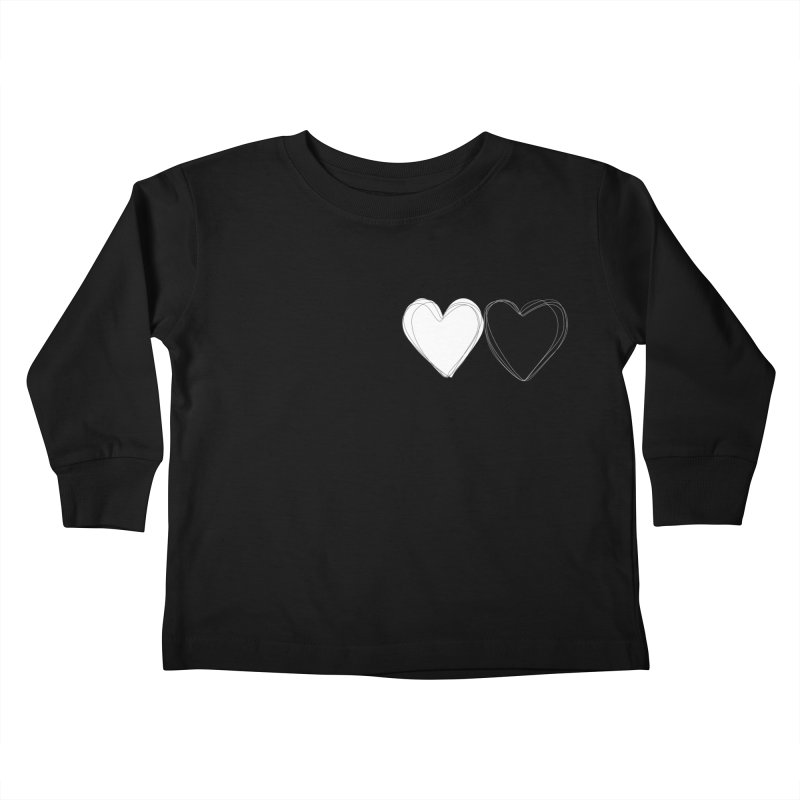 Hearts Kids Toddler Longsleeve T-Shirt by Designs by sakubik