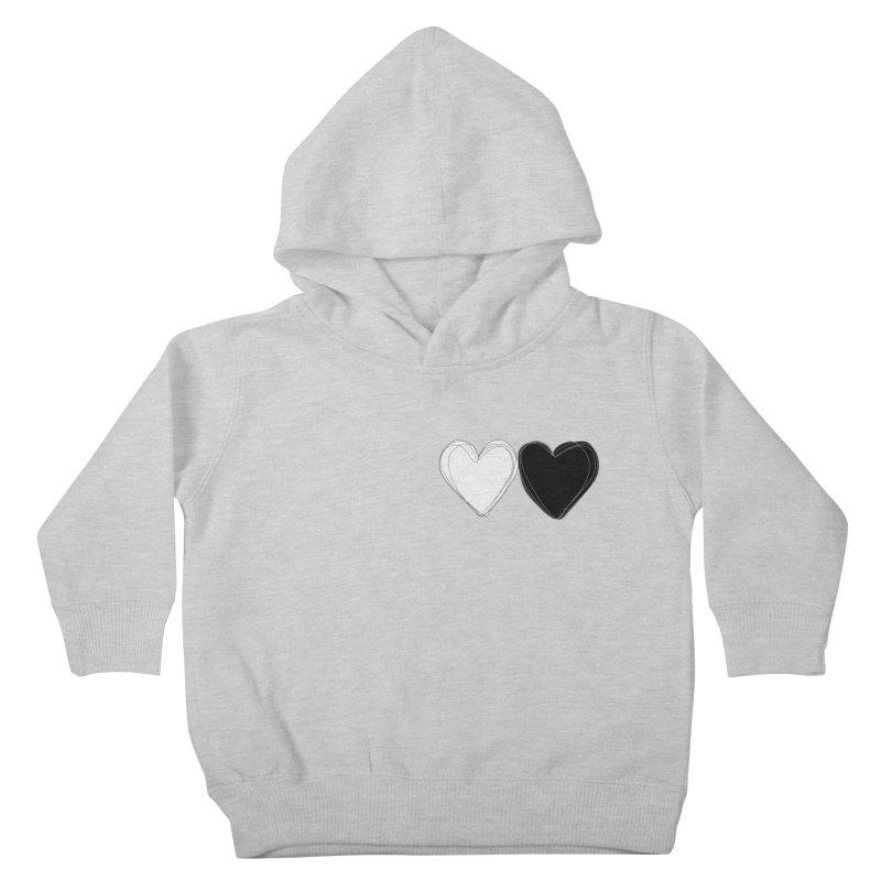 Hearts Kids Toddler Pullover Hoody by Designs by sakubik