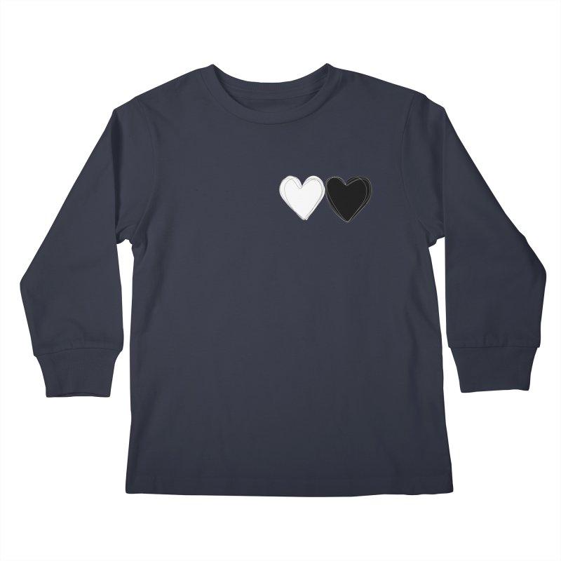 Hearts Kids Longsleeve T-Shirt by Designs by sakubik