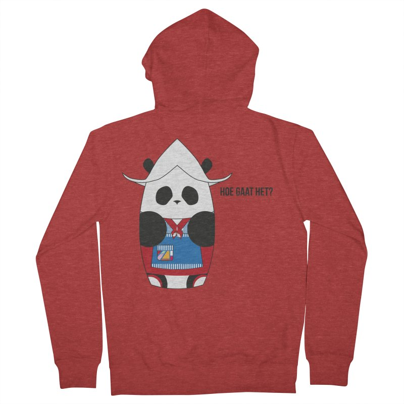 Culture Panda - Netherlands Women's French Terry Zip-Up Hoody by Designs by sakubik