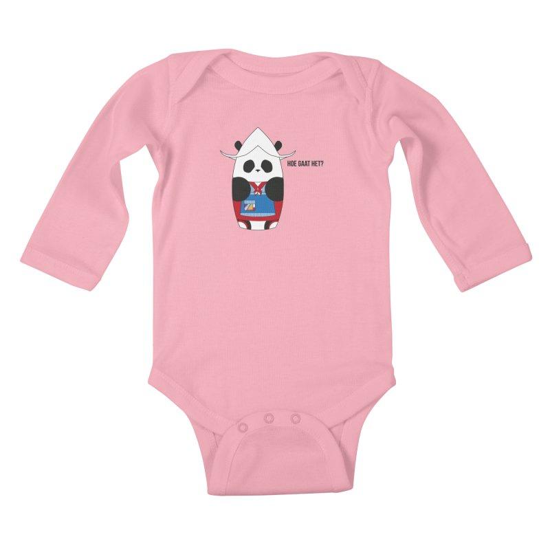 Culture Panda - Netherlands Kids Baby Longsleeve Bodysuit by Designs by sakubik