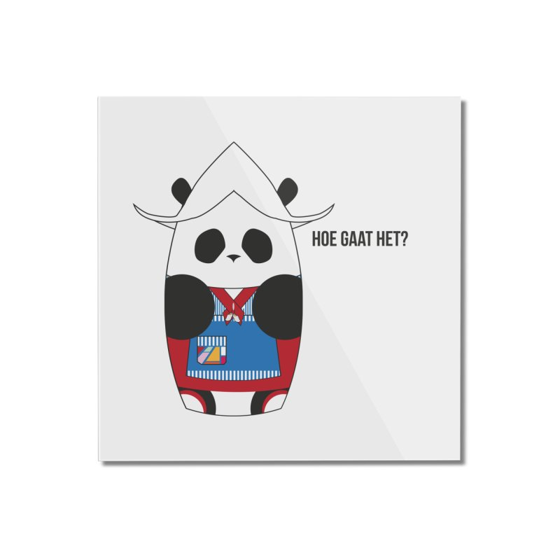 Culture Panda - Netherlands Home Mounted Acrylic Print by Designs by sakubik