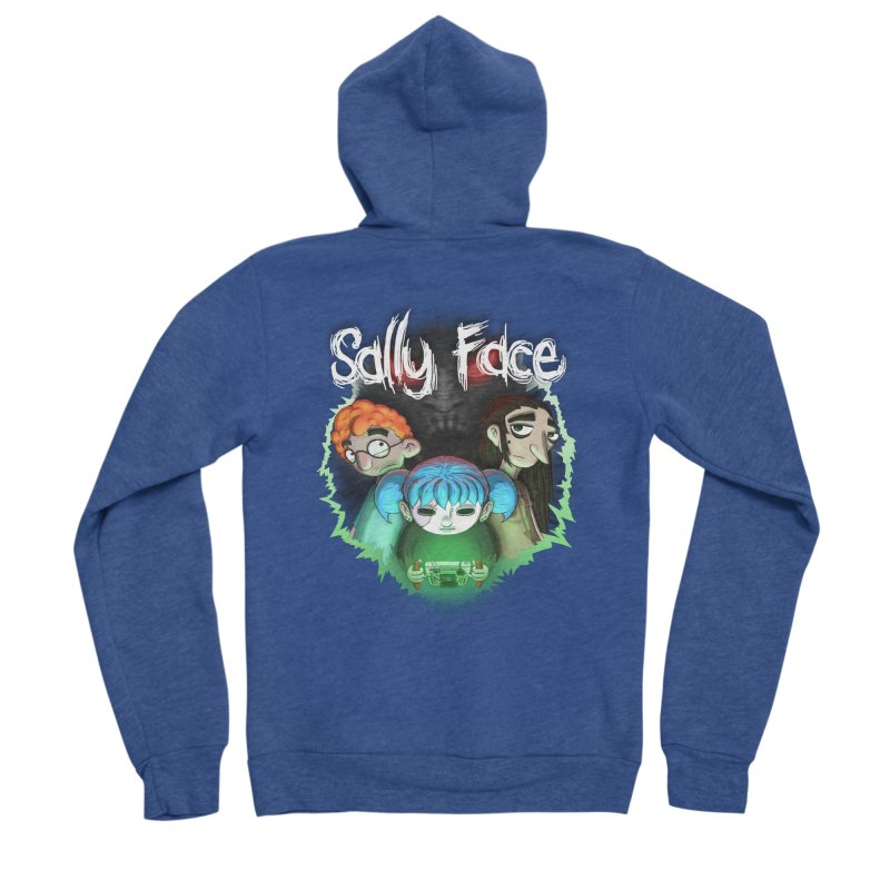 The Wretched Men's Sponge Fleece Zip-Up Hoody by Official Sally Face Merch