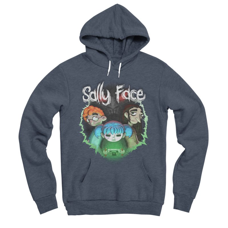 The Wretched Men's Sponge Fleece Pullover Hoody by Official Sally Face Merch