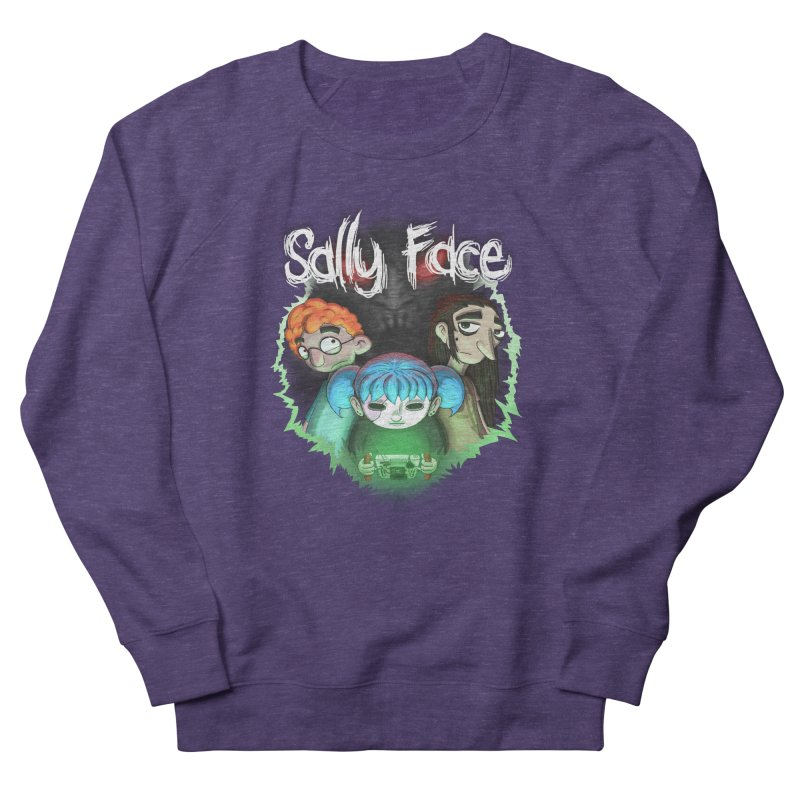 The Wretched in Women's French Terry Sweatshirt Heather Purple by Official Sally Face Merch