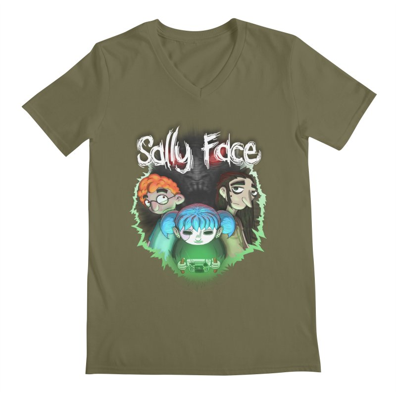 The Wretched Men's Regular V-Neck by Official Sally Face Merch