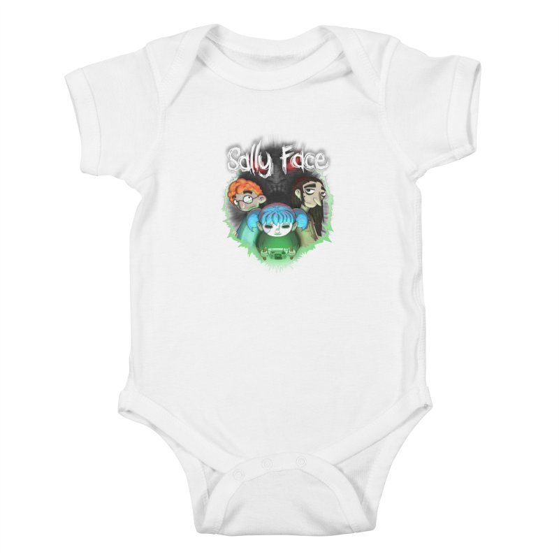 The Wretched Kids Baby Bodysuit by Official Sally Face Merch