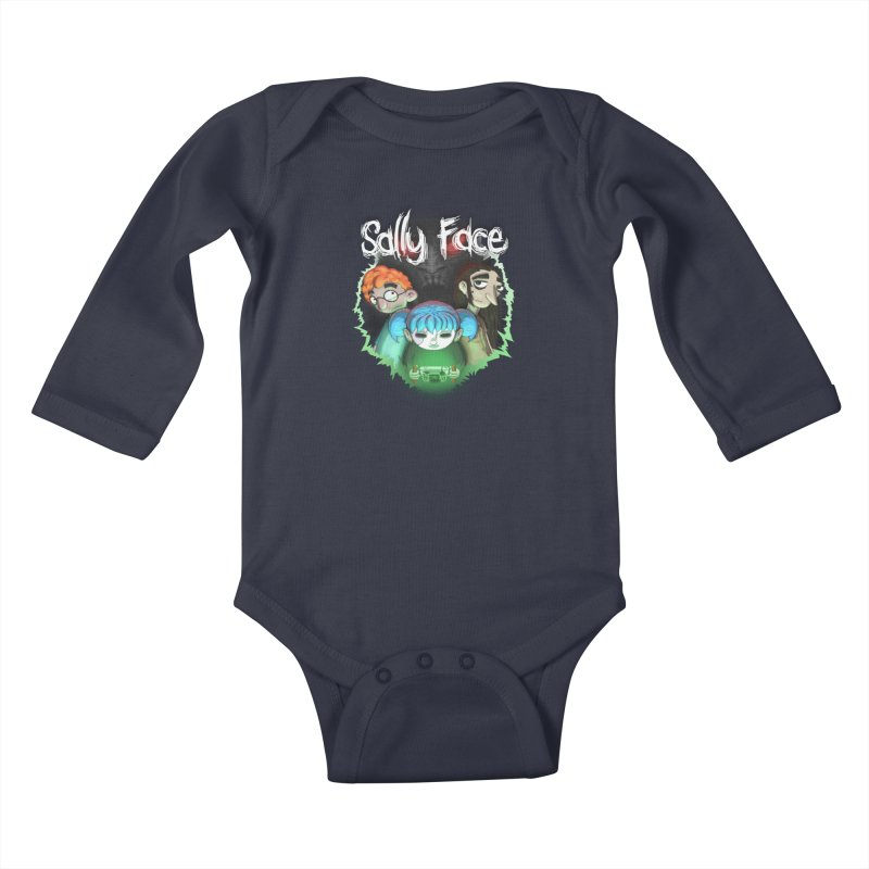 The Wretched Kids Baby Longsleeve Bodysuit by Official Sally Face Merch