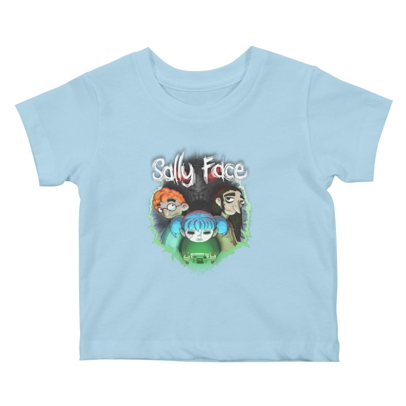The Wretched Kids Baby T-Shirt by Official Sally Face Merch