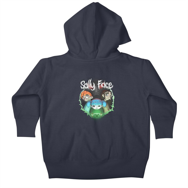The Wretched Kids Baby Zip-Up Hoody by Official Sally Face Merch