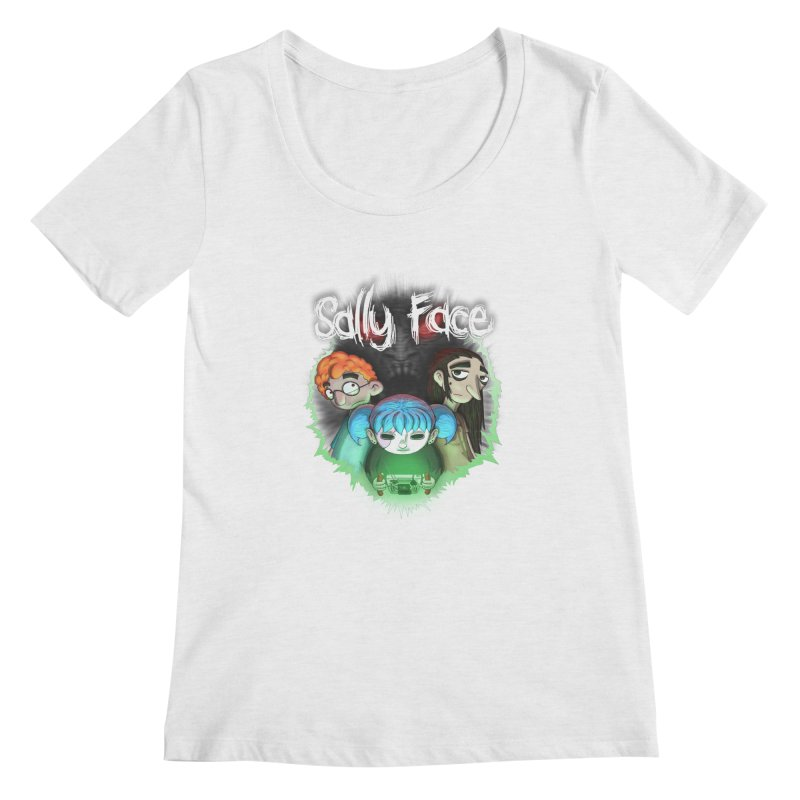 The Wretched Women's Regular Scoop Neck by Official Sally Face Merch