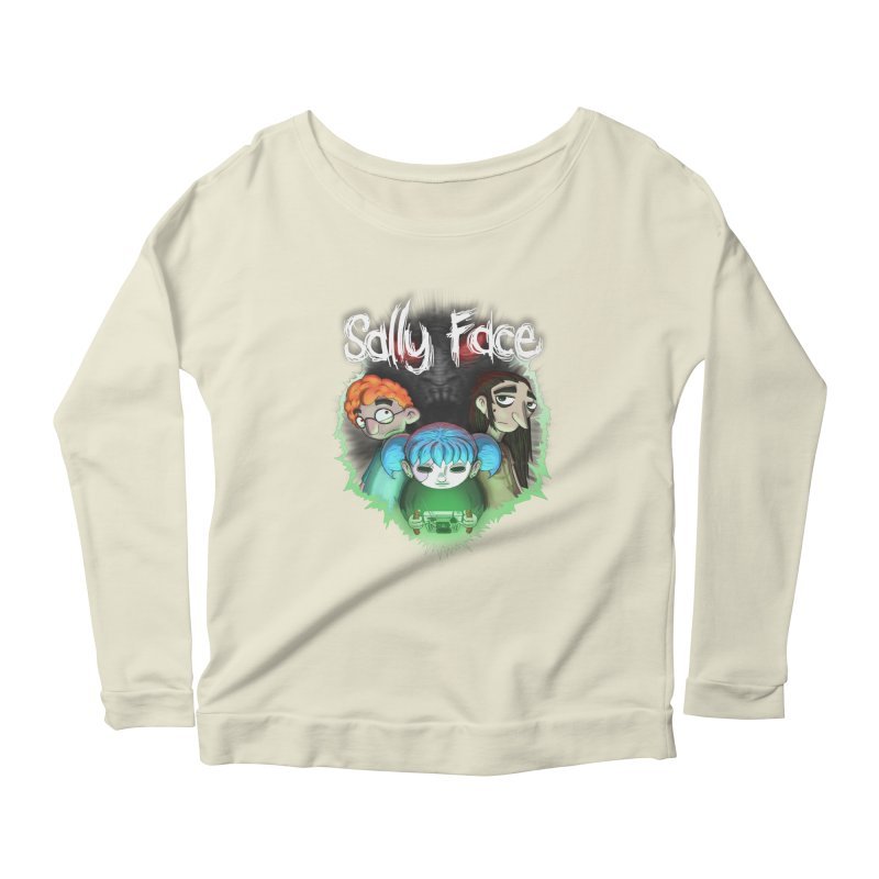 The Wretched Women's Scoop Neck Longsleeve T-Shirt by Official Sally Face Merch