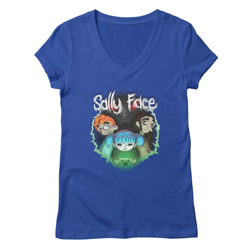 The Wretched Women's Regular V-Neck by Official Sally Face Merch