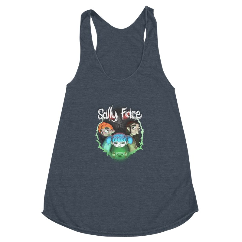 The Wretched Women's Racerback Triblend Tank by Official Sally Face Merch