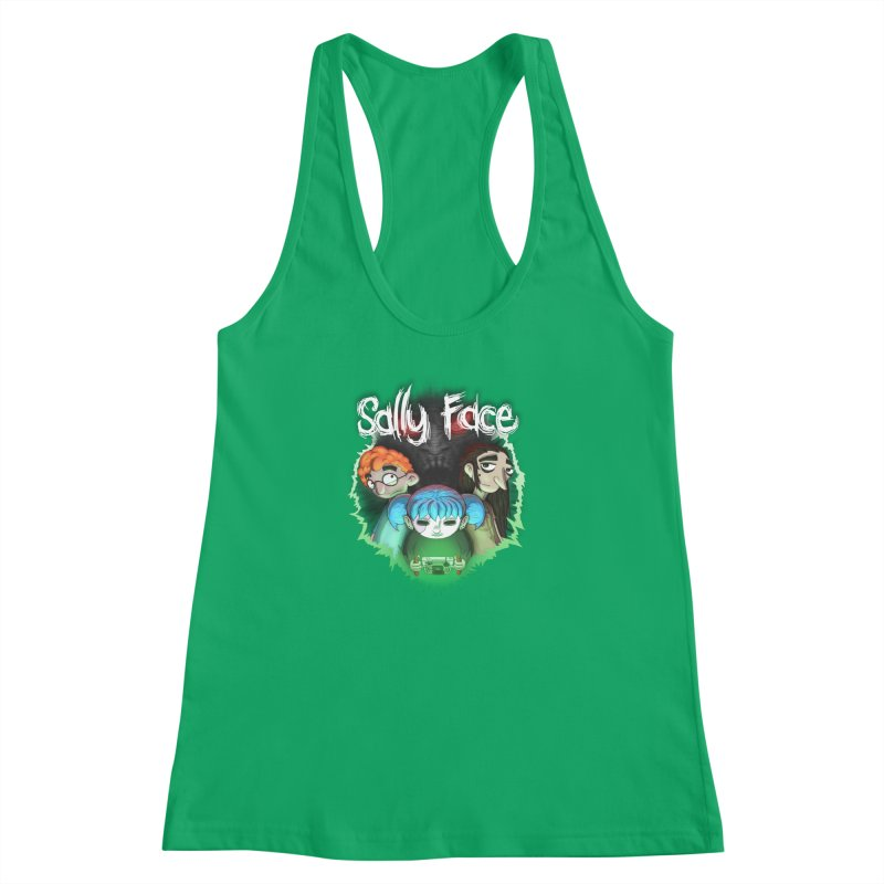 The Wretched Women's Racerback Tank by Official Sally Face Merch