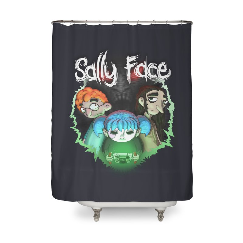 The Wretched Home Shower Curtain by Official Sally Face Merch