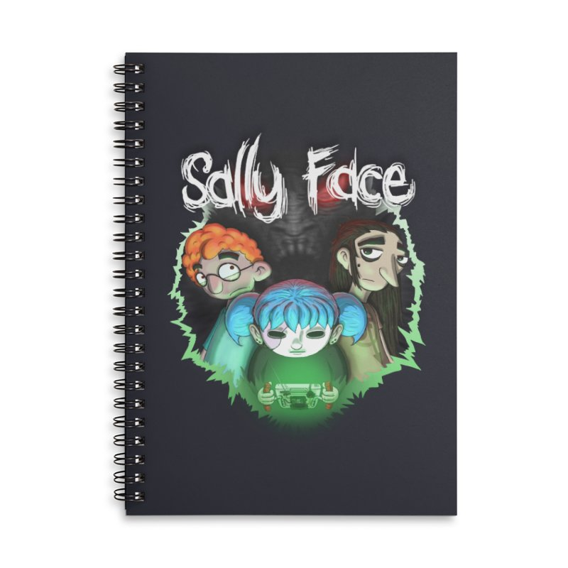 The Wretched Accessories Lined Spiral Notebook by Official Sally Face Merch