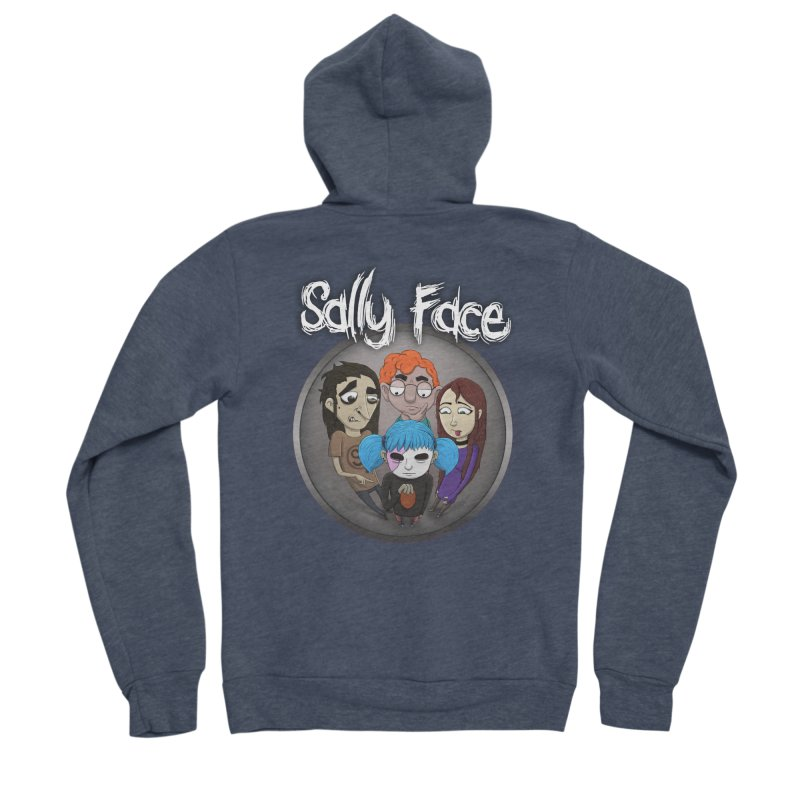 The Bologna Incident Women's Sponge Fleece Zip-Up Hoody by Official Sally Face Merch