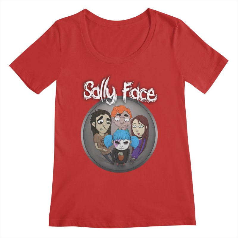 The Bologna Incident Women's Regular Scoop Neck by Official Sally Face Merch