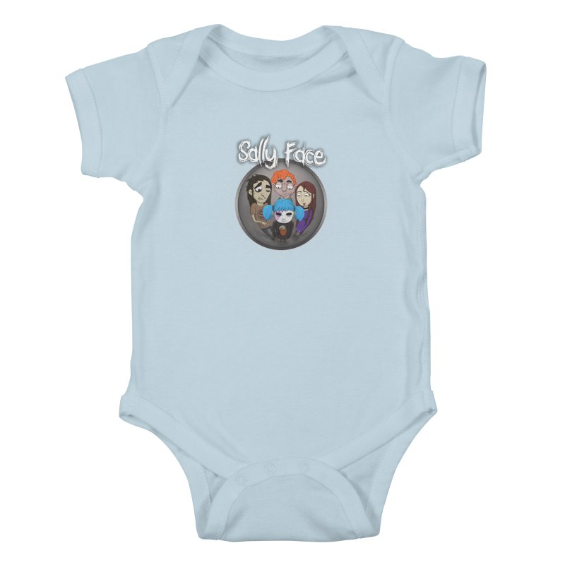 The Bologna Incident Kids Baby Bodysuit by Official Sally Face Merch