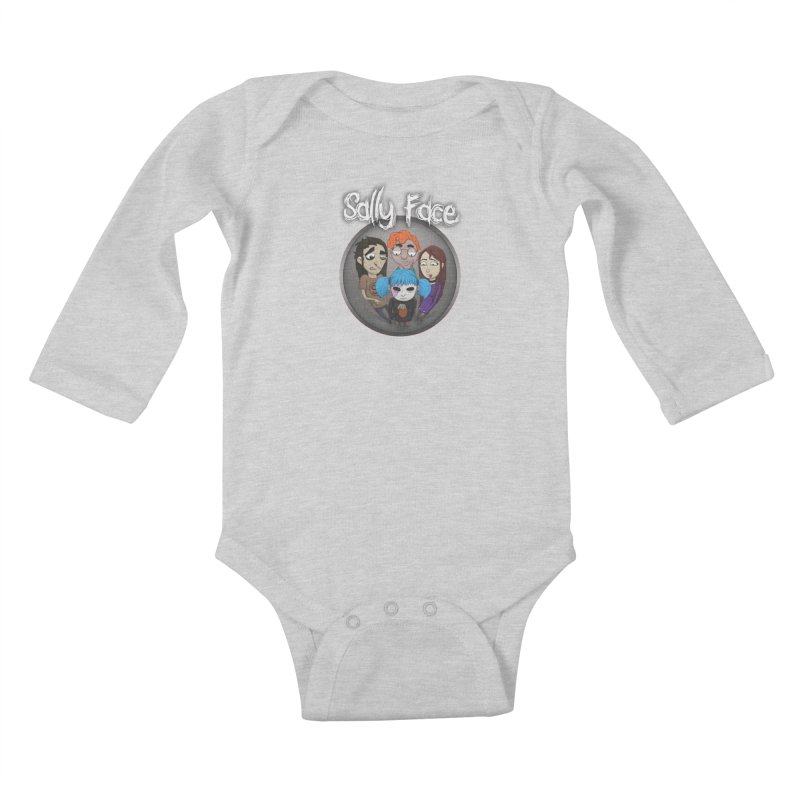 The Bologna Incident Kids Baby Longsleeve Bodysuit by Official Sally Face Merch