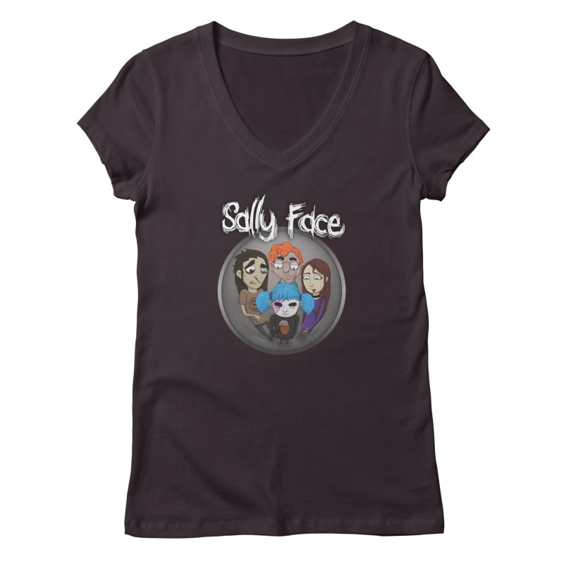 The Bologna Incident Women's Regular V-Neck by Official Sally Face Merch