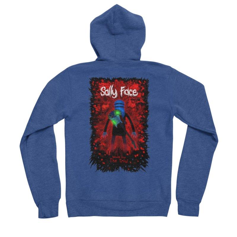 The Trial Men's Sponge Fleece Zip-Up Hoody by Official Sally Face Merch