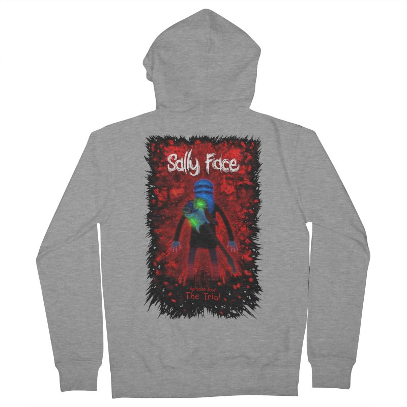 The Trial Women's French Terry Zip-Up Hoody by Official Sally Face Merch