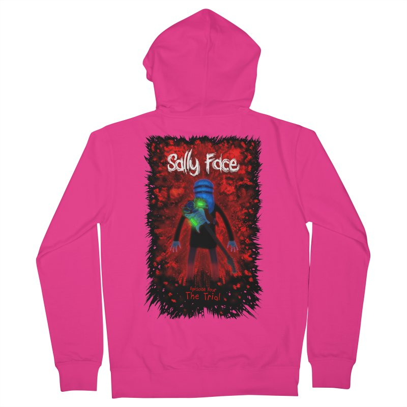 The Trial Men's French Terry Zip-Up Hoody by Official Sally Face Merch