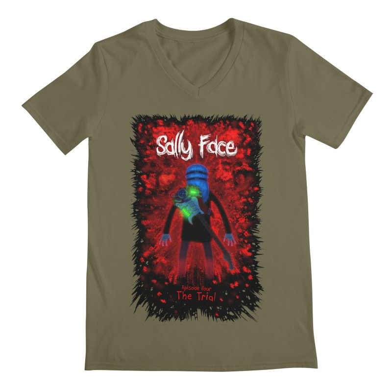 The Trial Men's Regular V-Neck by Official Sally Face Merch